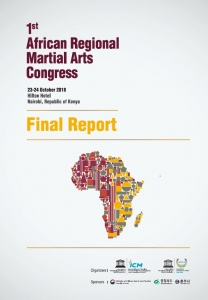 1st Afrcian Regional Martial Arts Congress Final Report Cover Page