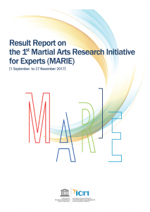 1st Martial Arts Research Initiative for Experts(MARIE) Result Report Cover