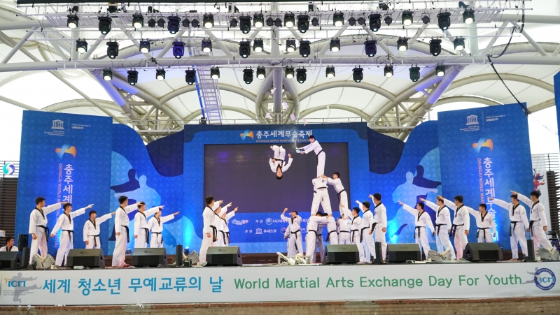 World Martial Arts Exchange Day for Youth_Martial Arts Demonstration Taekwondo