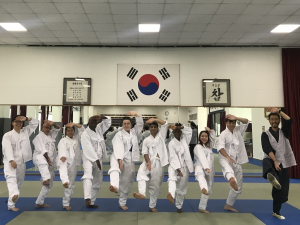 MARIE Participants posing after Taekkyun class